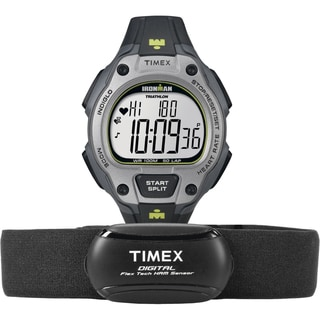 Timex Men's T5K719 Ironman Road Trainer Heart Rate Monitor Black/Gray/Lime Green Watch