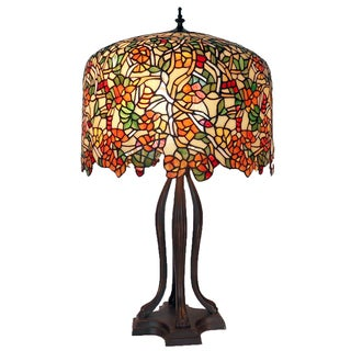 Tiffany-style Warehouse of Tiffany Cherry Blossom Table Lamp