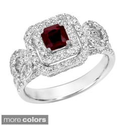 14k Gold Ruby or Sapphire and 2/5ct TDW Diamond Engagement Ring (G, SI1)