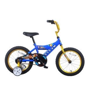 Titan Champion 16-inch Blue/ Gold Boys BMX Bike