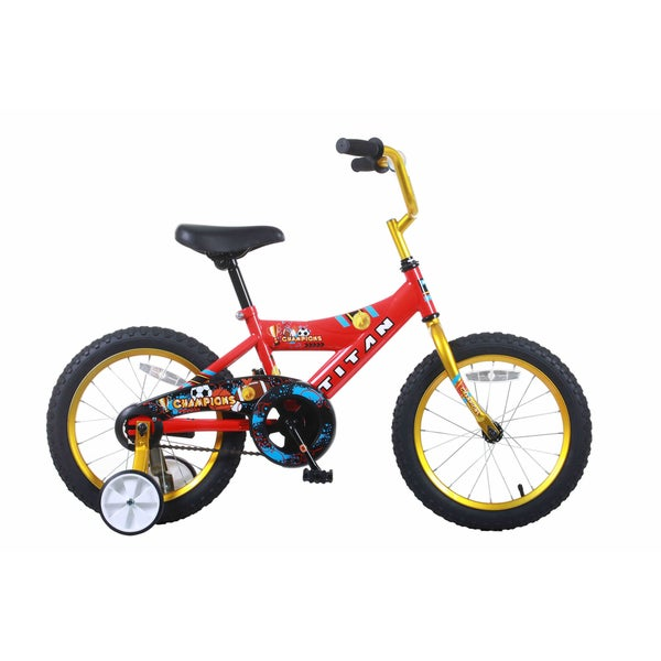 Titan Champion 16-inch Red/ Gold Boys BMX Bike