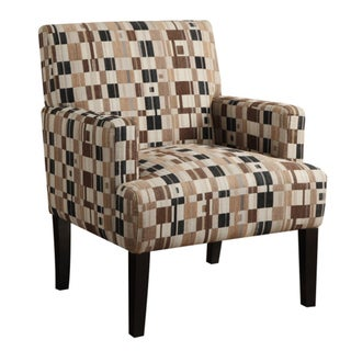 June Marlow Toast Checkered Chair