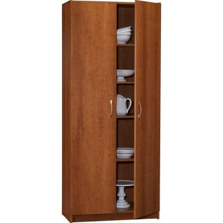 Cherry Finish 72-inch Storage Cabinet