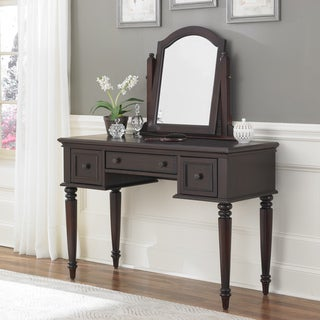 Bermuda Vanity and Mirror Espresso Finish