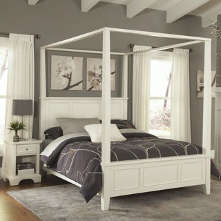 Naples Queen Canopy Bed and Night Stand