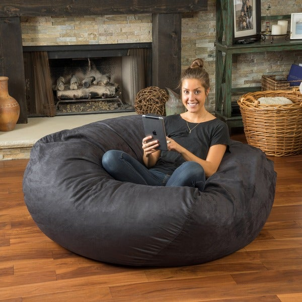 Christopher Knight Home Madison Faux Suede 5-foot Lounge Beanbag Chair
