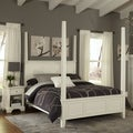 Naples King Poster Bed and Night Stand