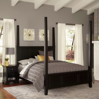 Bedford King Poster Bed and Night Stand