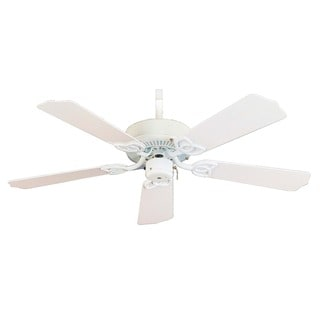 Aztec Lighting White Transitional 5-blade Ceiling Fan