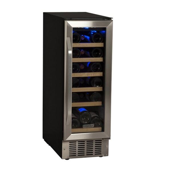 EdgeStar 12-Inch Black/Stainless Steel 18 Bottle Built-In Wine Cooler