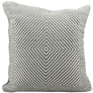 Mina Victory Woven Luster Steel Grey 20 x 20-inch Decorative Pillow by Nourison