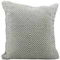 Woven Luster Steel Grey 20 x 20-inch Decorative Pillow