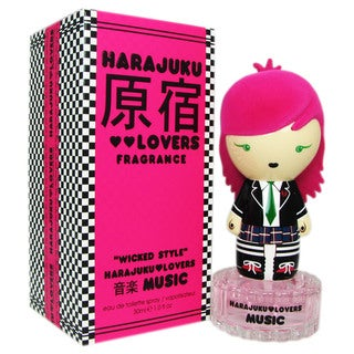 Gwen Stefani Harajuku Lovers Wicked Style Music Women's One-ounce Eau de Toilette Fragrance Spray