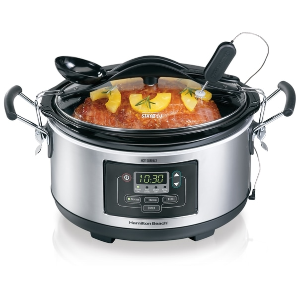 Hamilton Beach Deluxe Set'n Forget 6-quart Slow Cooker