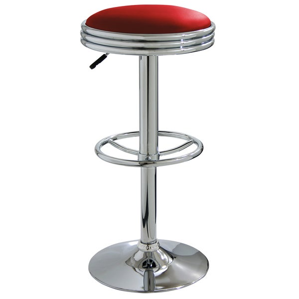 AmeriHome Soda Fountain Red Bar Stool