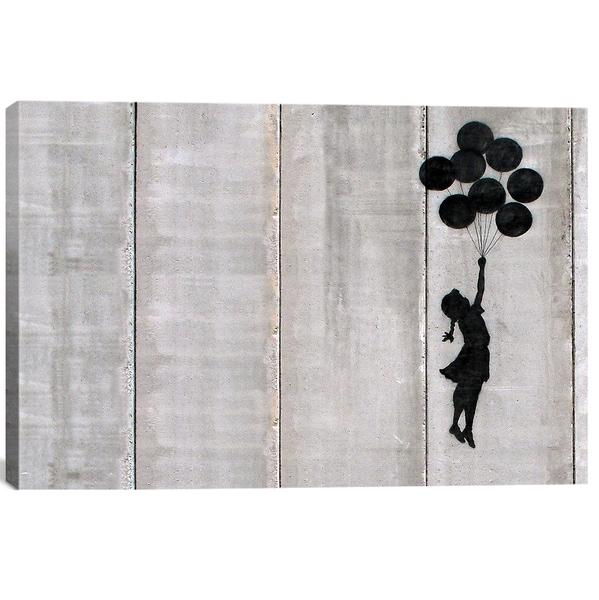 Banksy 'Flying Balloons Girl' Canvas Print Wall Art