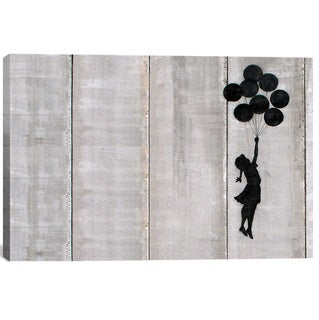 Banksy 'Flying Balloons Girl' Canvas Print Wall Art