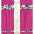 Pink Funky Zebra 84-inch Curtain Panel Pair
