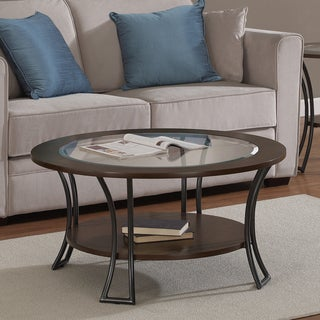 round coffee sofa end tables overstock shopping the best prices online. Black Bedroom Furniture Sets. Home Design Ideas