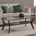Boomerang Espresso/ Antique Silver Rectangular Coffee Table