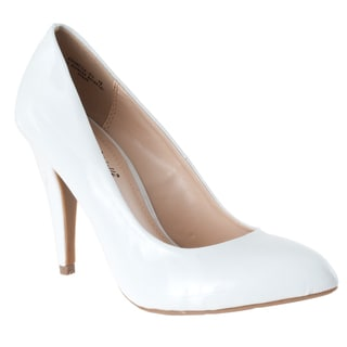 Riverberry Women's 'Adoncia-01' White Patent Pumps