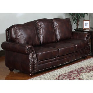 Steven Brown Bonded Leather Sofa