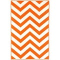 Prater Mills Orange and White Indoor/ Outdoor Rug