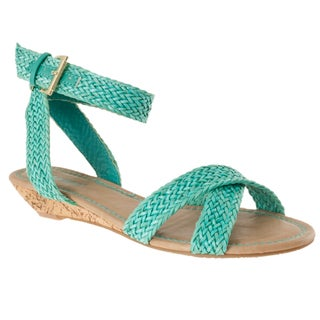 Riverberry Women's 'Dalinda-15' Seafoam Woven Sandals