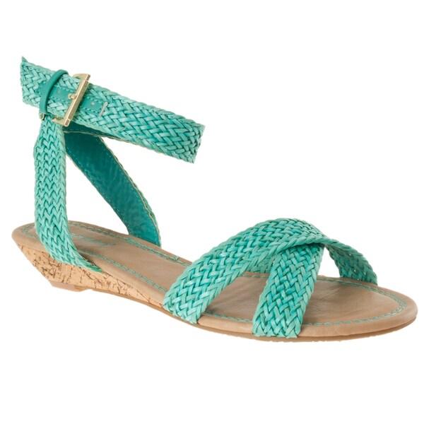 Riverberry Women's 'Dalinda-15' Seafoam Woven Sandals