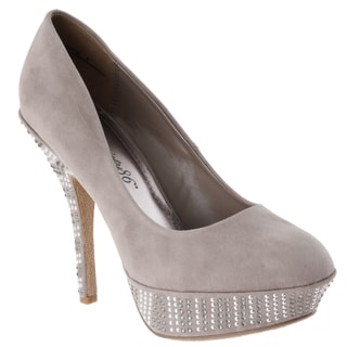 Riverberry Women's 'Dash-33' Taupe Embellished Pumps