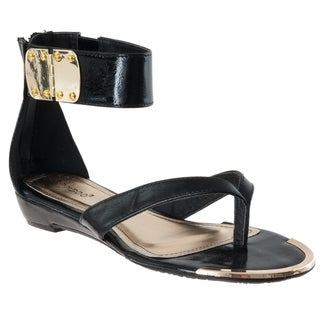 Riverberry Women's 'Lottie' Black Ankle Strap Sandals