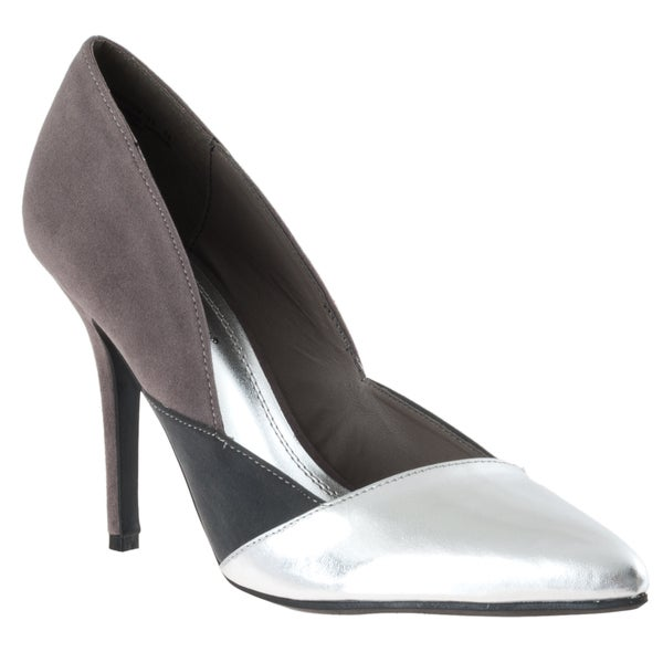 Riverberry Women's 'Momentum' Silver Pointed-toe Stilettos
