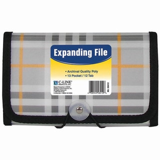 C-Line 13-pocket Plaid Coupon Expanding File