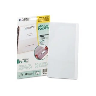 C-Line Peel & Stick Add-on Filing Pockets (Pack of 10)