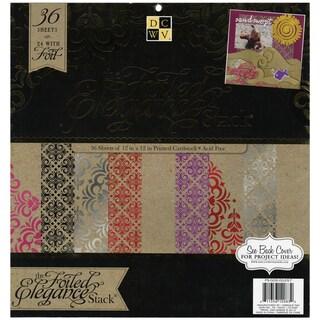 """Elegance Paper Stack 12""""X12"""" 48/Sheets-24 Designs/2ea"""