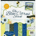 "Blue Citrus Paper Stack 12""X12"" 48/Sheets-24 Designs/2ea"