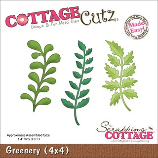 "CottageCutz Die 4""X4""-Greenery"