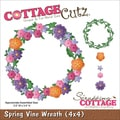 "CottageCutz Die 4""X4""-Spring Vine Wreath"