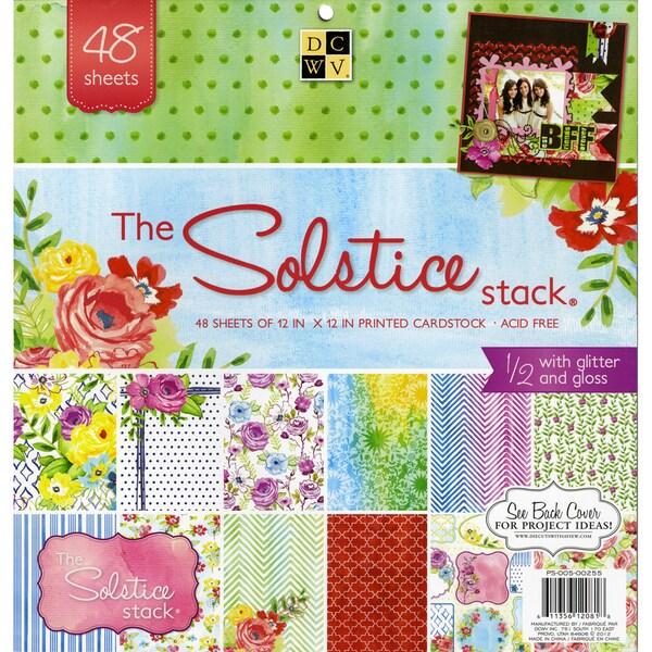 """Solstice Paper Stack 12""""X12"""" 48/Sheets-24 Designs/2ea"""