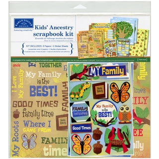Kids&#39; Ancestry Scrapbook Page Kit 12&quot;X12&quot;-