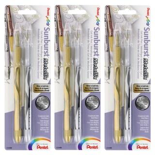 Pentel Arts Sunburst Metallic Medium Gel Ink Pens (Pack of 6)