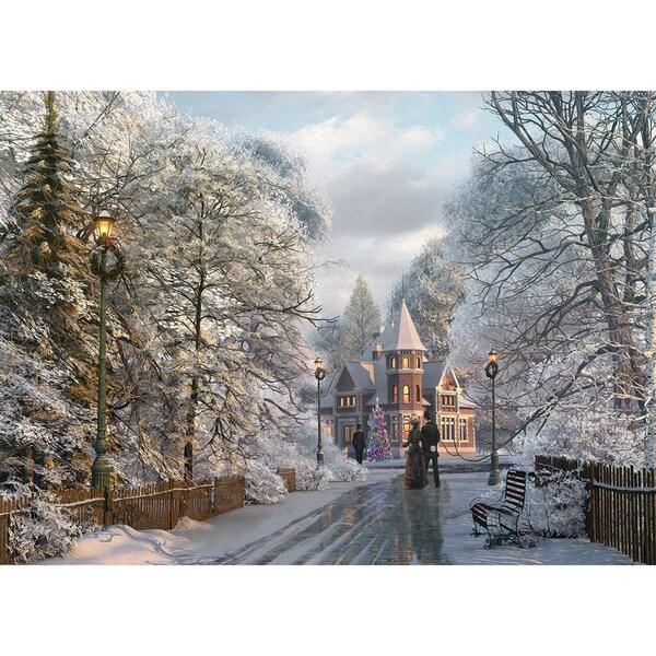 New England Christmas Stroll 1000-piece Jigsaw Puzzle (19.25 x 26.5)