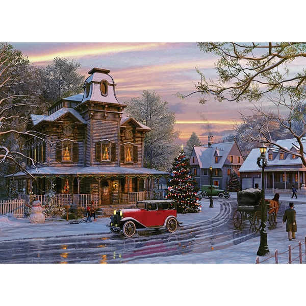 Driving Home For Christmas 1000-piece Jigsaw Puzzle (19.25 x 26.5)