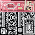 "Dazzles Stickers 6""X12"" 2 Sheets-White Lacy Frames"