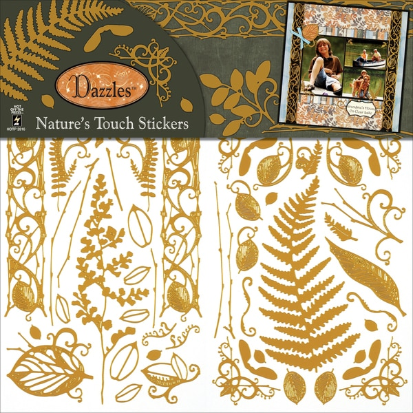 "Dazzles Stickers 6""X12"" 2 Sheets-Nature's Touch"