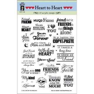 "Hot Off The Press Acrylic Stamps 6""X8"" Sheet-Heart To Heart Greetings"