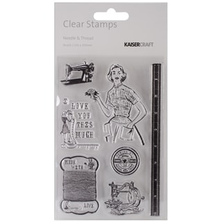 Needle &amp; Thread Clear Stamps 6&quot;X4&quot; (15.5cm X 10cm)-