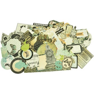 75 Cents Collectables Cardstock Die-Cuts-Over 50 Pieces, Assorted Sizes