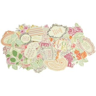 Flora Delight Collectables Cardstock Die-Cuts-Over 50 Pieces, Assorted Sizes