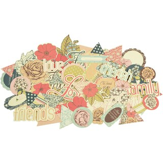 Lulu & Roy Collectables Cardstock Die-Cuts-Over 50 Pieces, Assorted Sizes